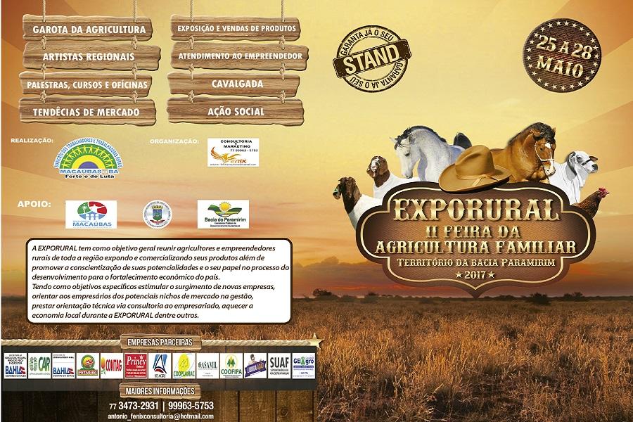 PROGRAMAÇÃO: II EXPORURAL e II Feira da Agricultura Familiar