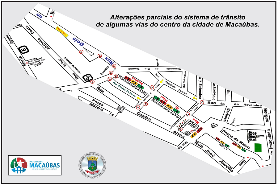 Alterações no sistema de trânsito no centro da cidade de Macaúbas