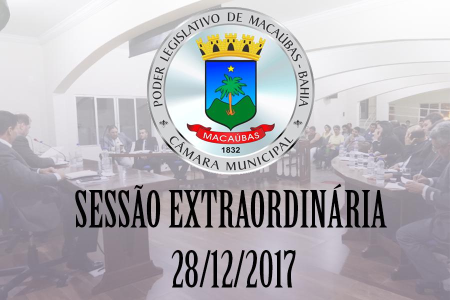 Câmara Municipal realizará Sessão Extraordinária dia 28 de dezembro 2017