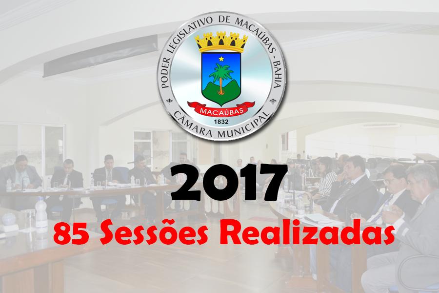 MAIS DE 40 PROJETOS FORAM APRESENTADOS E VOTADOS EM 85 SESSÕES REALIZADAS NESTE ANO DE 2017