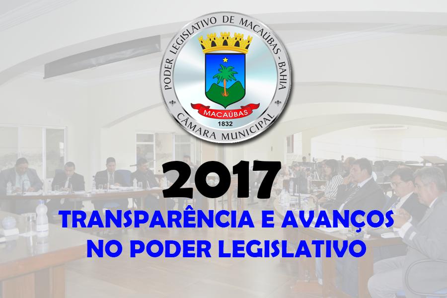 Câmara de Macaúbas: 2017 foi um ano de transparência e avanços no Poder Legislativo